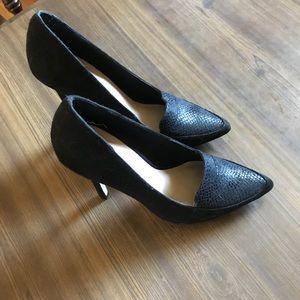 Shoes - Black Suede Pumps
